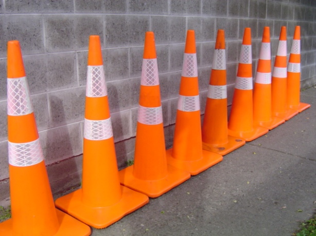 """Anyone need 5 Road cones?, I had to by the """"Lot""""."""